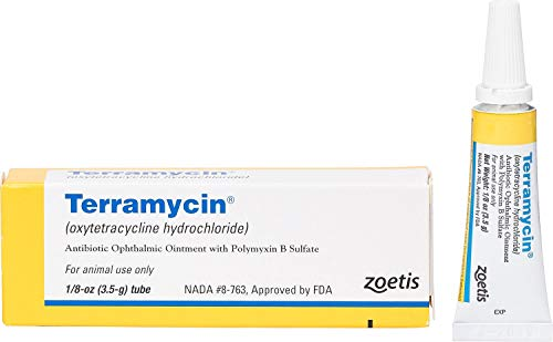 Zoetis Animal Health Terramycin Antibiotic Ophthalmic Ointment 1/8 oz