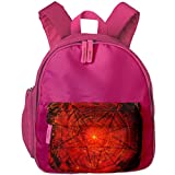 XCNGG Mochila para niños Mochila para niños Bolsos para niños Kids Backpack 3D Satanic Pentagram Red Kindergarten Preschool Pocket Bags Rucksack Casual Daypack For Children Toddler Girls Boys Pink