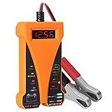 MOTOPOWER MP0514D 12V Voltmetro per Tester Digitale Batteria - Arancio