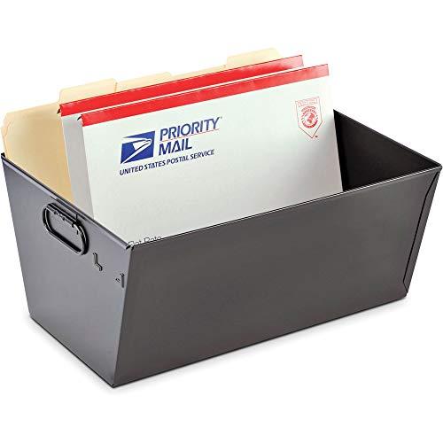 MMF Industries 2062TBK Posting Tub, Legal File, 15-1/8-Inch x11-3/8-Inch x7-Inch, Black