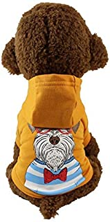 Doggy Costume Dog Clothes Spring and Autumn Models Tide Brand pet Dog Teddy Bomei Butterfly Dog ??Schnauzer Clothes (Color : Orange, Size : M) Pet Dog Clothes