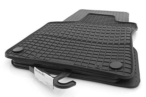 kh Teile 29511 Jeu de 4 tapis de sol en caoutchouc toutes saisons Noir