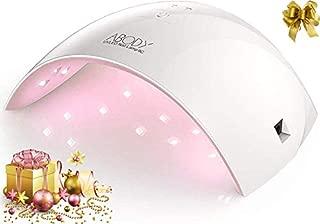 Abody Secador de Uñas 24W Lámpara LED UV Profesional Maquillaje Uñas con Temporizador para UV Gel Gel de Constructor LED Gel Luz Blanca Enchufe EU (Rosa)