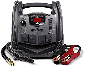 Schumacher Rechargeable AGM Jump Starter for Gas Diesel Vehicles - 1200 Amps with Air Compressor and AC, 12V DC, USB Power Station