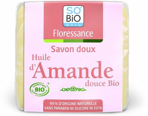 Savon Doux à l'Huile d'Amande Douce Bio 100 g Lot de 4,FLORESSANCE,