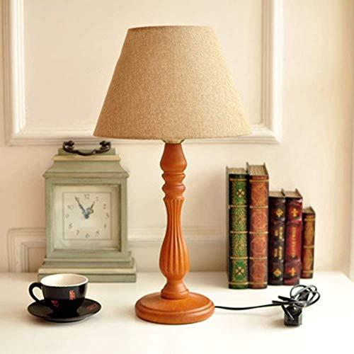 JIAN Exquisite Lighting ZHjnhl tafellamp Amerikaanse eenvoudige grootte van het product met 50 cm hoge houten lamp van stof lichaam schaduw dimmer schakelaar E27 toepassing ruimte woonkamer studio Ca