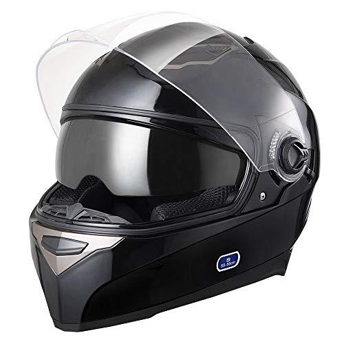 AHR RUN-F DOT Motorcycle Full Face Helmet Dual Visors Sun Shield Street Bike Motorbike Touring ABS...