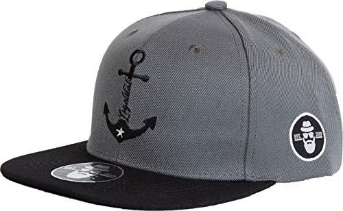DonnyFat Anker Cap Snapback Loyalität Grau Schwarz One Size Unisex