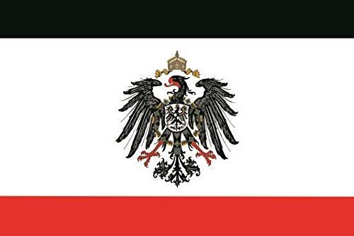 U24 Fahne Flagge Kaiserreich mit Adler Bootsflagge Premiumqualität 30 x 45 cm