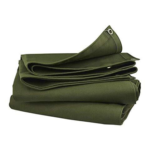Gcxzb Shade Lona Impermeable de Tela Impermeable de protección Solar Aislamiento Grueso Lona al Aire Libre del Cuchillo Que raspa Camión de Tela Verde del ejército (Color: Armygreen, Tamaño: 6x8m)
