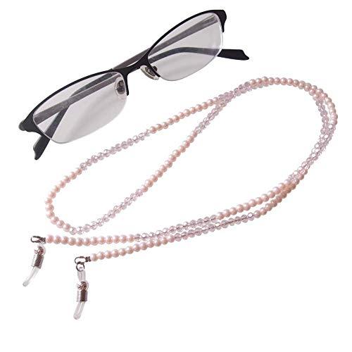 AV Fashion India - Pearl Eyeglass Chain, Pink Crystal Beaded Glasses Strap Lanyard Holder for Sunglass Women Girl
