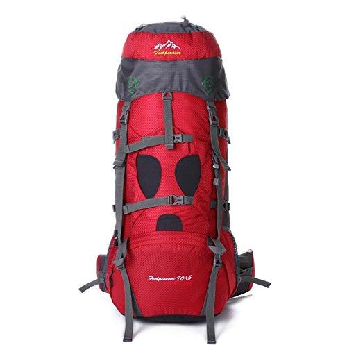 SZH&BEIB Sac à dos de randonnée très grande capacité 70 + 5L pour le sac de camping Voyage en plein air en nylon imperméable , C
