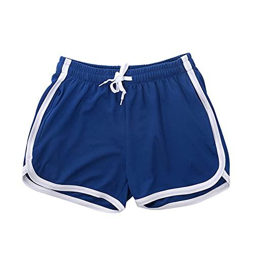 N\P Pantalones cortos cortos para hombre ropa de playa entrenamiento gimnasio deportes correr, Azul / Patchwork, X-Large