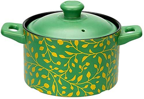 WANGP Casserole Dish, Health Soup Pot, Household Ceramic Pot, High Temperature Resistance, for Saute Fry Steam Braise Bake Broil Simmer Roast 2.5 L/3.5 L,2.5L