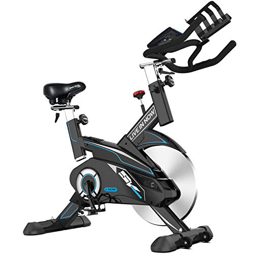 pooboo Indoor Cycling Bike Exercise bike Belt Driven Stationary Bike with 35lbs Flywheel and Monitor For Home Cardio Workout