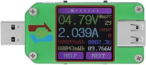 AiLi UM24C USB 2.0 Power Meter Tester USB Multimeter Color LCD Display Voltage Current Meter Voltmeter Amperimetro Battery...