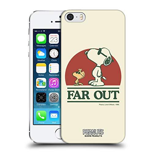 Head Case Designs Licenza Ufficiale Peanuts Snoopy Woodstock Far out Woodstock 50th Cover Dura per Parte Posteriore Compatibile con Apple iPhone 5 / iPhone 5s / iPhone SE 2016