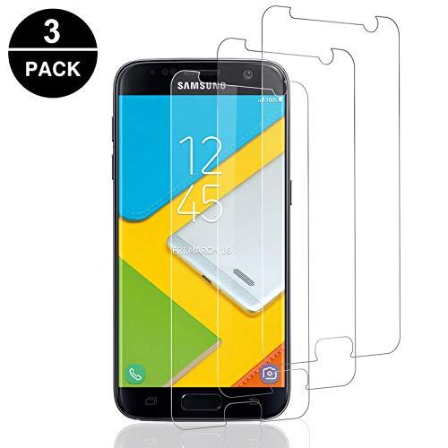 Aspiree 3 Stück Schutzfolie kompatibel für Samsung Galaxy S7, HD Displayschutzfolie/Panzerfolie, Tempered Glas Schutzglas, Anti-Kratzer/Bläschen/Fingerabdruck/Staub Panzerglasfolie für S7