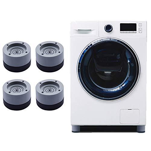 Wuudi 4 Piezas Almohadillas para pies de lavadora, Lavadora Universal Almohadillas Antivibración Lavadora, Almohadillas para pies antideslizantes de goma para anti vibración y Anti Walk (gris, 3.5 cm)