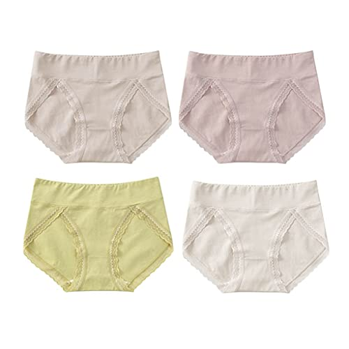 GDSSX Pantalones Cortos de triángulo de Cintura Media Transpirable Sexy Transpirable Sexy con Ajuste de Encaje no se Encoge Cómodo (Color : Multicolor 4, Size : M)