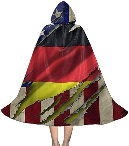 Romance-and-Beauty Capa del Cabo para nios Bandera Alemana oxidada Estados Unidos Estados Unidos Halloween Bruja con Capucha Vampiros