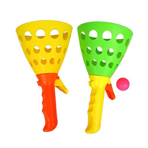 Kids Lanza Catch Ball Game Set, lanzando Juego de Pelota de Captura, Lanzamiento y Captura Transmisor de Pelota, Catcher Scoop Toss Touch para niños Actividad al Aire Libre (Color al Azar)