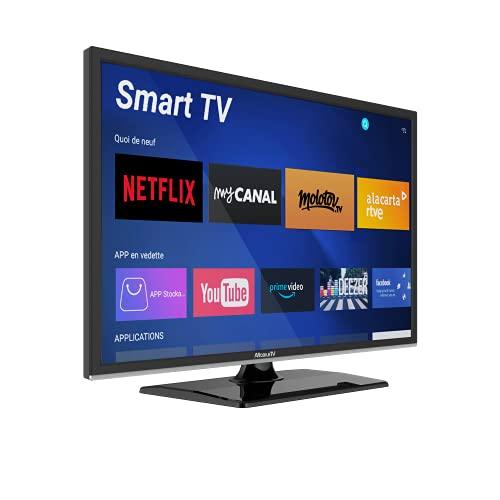 "Smart TV 22"" 55 cm Android - 12/24 V - DVD - Campeggio Car Camion Van - MobileTV Silverline"