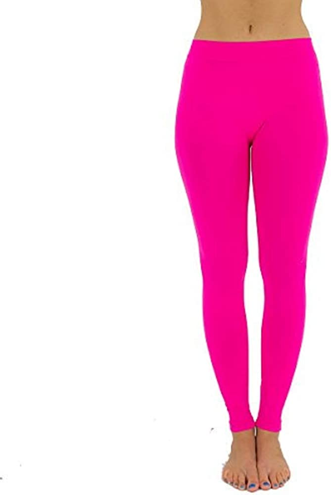 Baby Kisses Girls Legging Cotton Ankle Length Kids Pants Size 7 to 11 Pink
