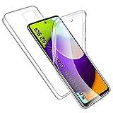 Funda Compatible con Samsung Galaxy A52 5G, Transparente Carcasa TPU Silicona + PC Dura Doble Cara 360° Cuerpo Completo Protectora Case, RosyHeart Ultra-Delgado Anti-Arañazos Suave Case