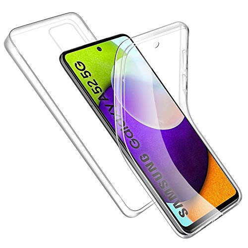 Hülle Kompatibel mit Samsung Galaxy A52 5G, Transparente Handyhülle Weich Silikon TPU Vorderseite + Hart PC Zurück Schutzhülle Kompatibel mit Samsung A52 5G, Rosyheart 360 Grad Komplett Schutz Cover