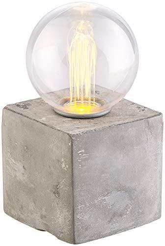 Lunartec Betonsockel Lampe: Deko-Tischleuchte mit LED und Beton-Sockel, USB- oder Batteriebetrieb (Dekoleuchten)