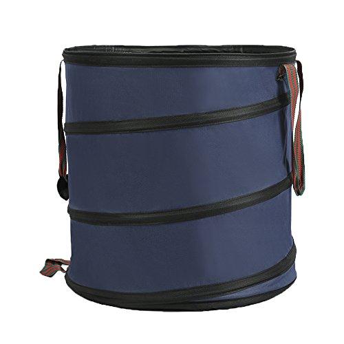 Great Deal! INFILM Collapsible Spring Bucket Garden Bag,Reusable Yard Waste Trash Bags Gardening Gar...