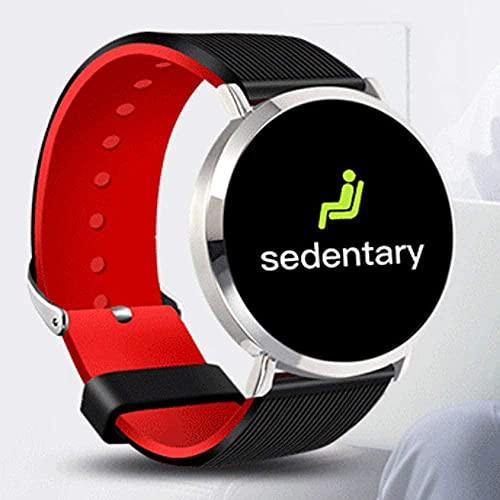 Relojes inteligentes para hombres y mujeres, reloj de pulsera de fitness con monitor de sueño de ritmo cardíaco pantalla táctil completa IP67 impermeable podómetro reloj inteligente-plata