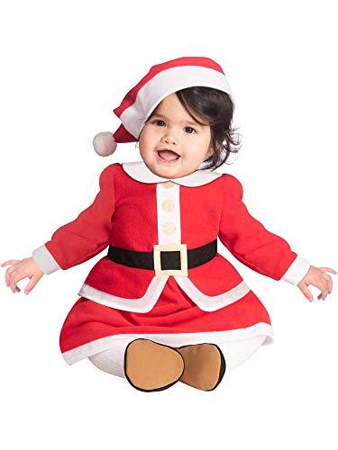 Kind Meisjes Kleine Miss Kerstman Kostuum (6-12m)