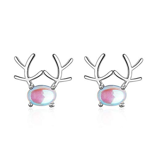 Erin Earring Elegant Christmas Elk Deer Animal Opal Stone Ladies Earrings Ladies Original Jewelry Gift