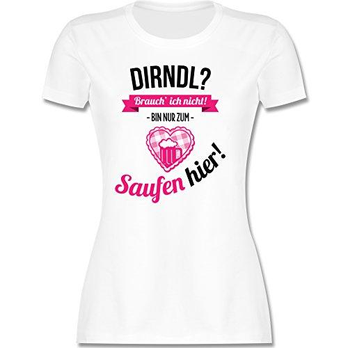 Shirtracer Dirndl brauch ich Nicht (Weiß, XXL)
