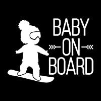 ZDZCLI クリエイティブ傷ステッカー車のステッカーステッカーBABY ON BOARD (Color : White)