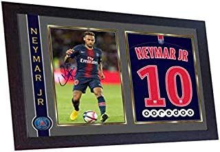 S&E DESING Neymar Paris Saint Germain Neymar Print Signed Autograph Framed Photo