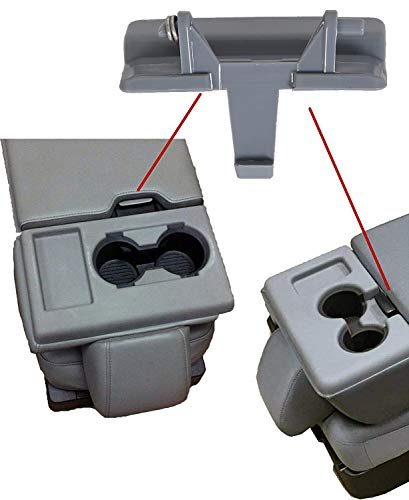 KUAFU Gray Center Console Jump Seat Lid Latch Compatible with 2010-2018 Ford...