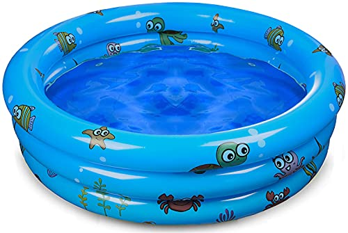 Inflatable Kiddie Pool for Backyard, Kids Swimming Pools for Baby Toddler...