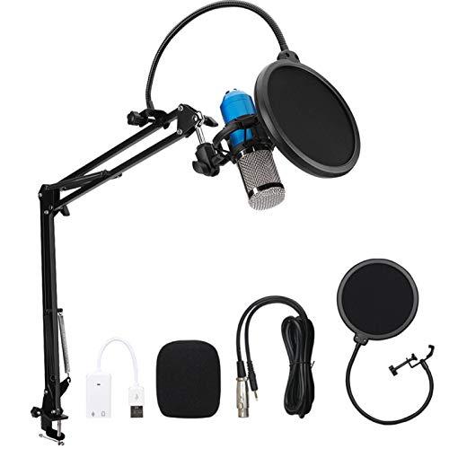 Fockety Micrófono, práctico micrófono de Canto con Cable de Audio de 3,5 mm, con Marco Grueso a Prueba de Golpes para computadora de casa