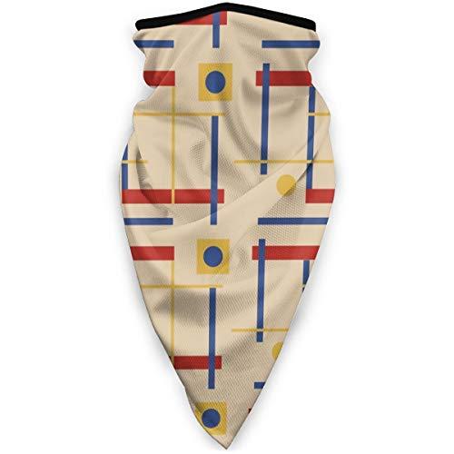 A Nod To Bauhaus Circle Magic Kopfbedeckung, Unisex, Bandana, Kopfbedeckung, Halstuch, Gesichtsmasken