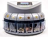HILTON EUROPE G550 - Contador/Clasificador monedas euro - Capacidad de 500 a 800 monedas - 250...