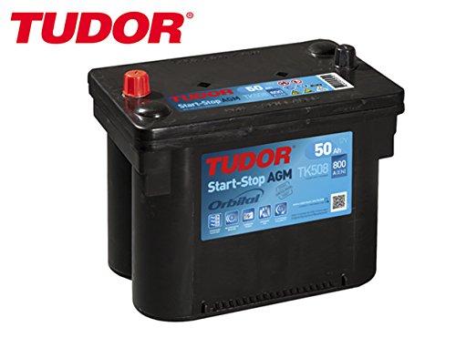 BATERIA TUDOR 50AH / 800A (EN) +I GAMA AGM START-STOP TIPO OPTIMA RED TOP RTC 4,2 ROJA MAXIMA CALIDAD