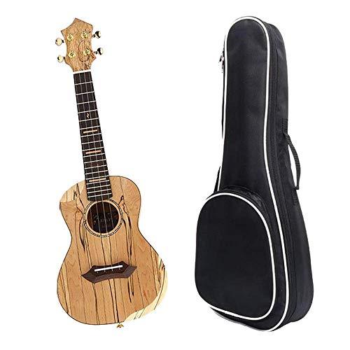 Goed voor de hersenen Ukuleles 23 Inch Hout Body Carbon Strings Concert Ukulele Uke Hawaii Kids Kleine Gitaar Met Gig Bag Voor Kinderen Volwassenen Beginners Studenten Muzikaal Instrument Gifts (Kleur : Hout, Maat