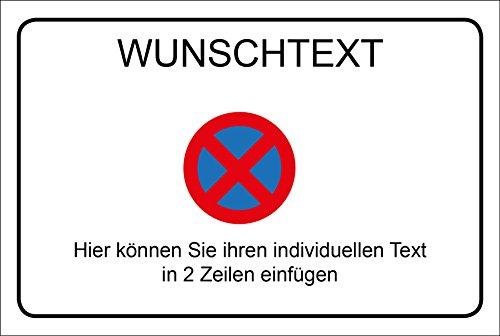 Schild Wunschtext - Halteverbot - 30 x 20 cm - 4 mm Alu Verbundplatte