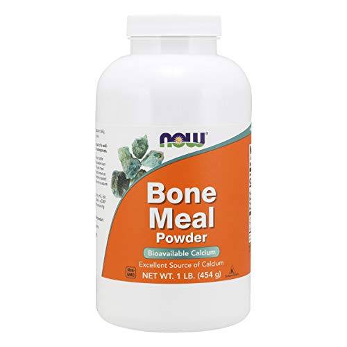 NOW Supplements, Bone Meal Powder with Calcium Carbonate and Magnesium Oxide, Natural Calcium Source, 1-Pound