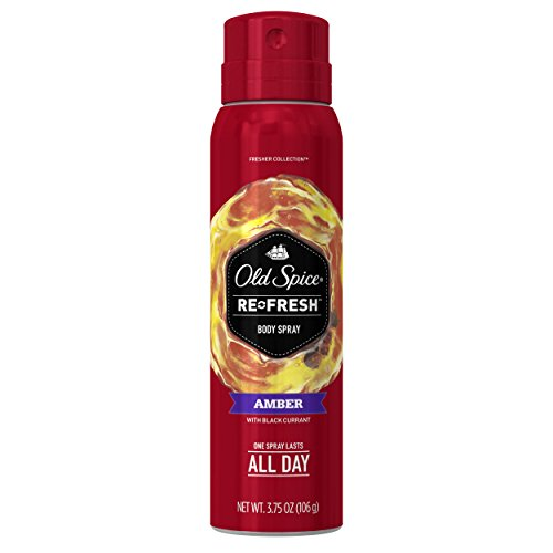 Old Spice Fresher Collection Men's Body Spray, Amber, 3.75 Ounce