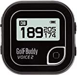Golf Buddy Voice 2 Talking GPS Rangefinder, Long Lasting Battery Golf Distance Range Finder, Preloaded with 40,000 Worldwide Courses, Easy-to-use Golf Navigation for Hat (Voice 2_Black)