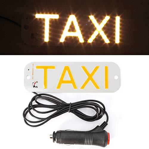 12v LED Taxi Parabrisas Parabrisas Amarillo 15.5X5cm Signo Luz Coche Alto Brillo Lámpara Bombilla Con Disco de Succión